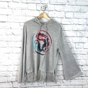 Disney Princess Mulan Heather Gray Hoodie XL